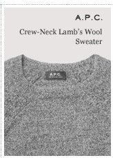 A.P.C. Crew Neck Lamb's Wool Sweater