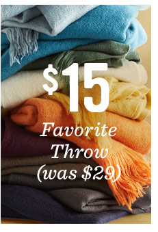 $15 favorite throw (was $29)
