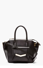 TIME'S ARROW Black Leather Mini Jo Tote for women
