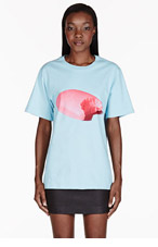 MSGM Blue Candy Toilet Paper Edition T-shirt for women