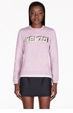 KENZO Heather Pink Embroidered Logo Sweater for women