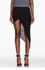 HELMUT HELMUT LANG Black Kinetic Asymmetrical Wrap Skirt for women