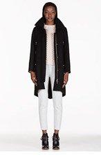 CHLOE Black Wool Felt Coat for women