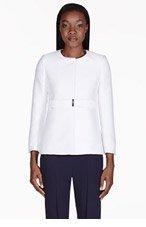 STELLA MCCARTNEY White Structured Minimalist Jacket for women