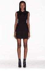 3.1 PHILLIP LIM Black Leather Neoprene Combo Dress for women