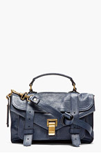 PROENZA SCHOULER Midnight Blue PS1 Tiny Lux Leather Satchel Bag for women