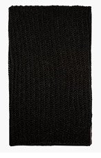 RICK OWENS Grey Melange Charcoal Knit Scarf for women