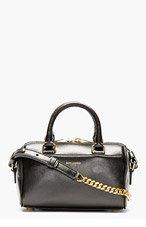 SAINT LAURENT Black Leather Toy Duffle Shoulder Bag for women