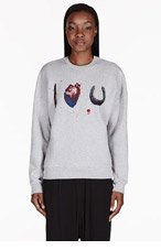 MSGM Grey I Love U Toilet Paper Edition Sweater for women