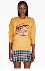 MSGM Yellow Frog Burger Toilet Paper Edition Sweater for women