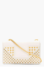 SAINT LAURENT Moonlight Grey Mini Betty Shoulder Bag for women