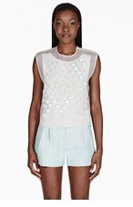 3.1 PHILLIP LIM Ivory Embellished Silk Blouse for women