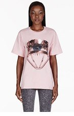 MSGM Pink Eyelash Curler Toilet Paper Edition T-shirt for women