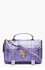 PROENZA SCHOULER Berry Purple PS1 Medium Lux Leather Shoulder Bag for women
