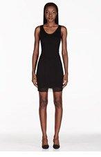 HELMUT HELMUT LANG Black Mesh Detail Cadet Ponte Dress for women