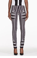 PETER PILOTTO Black & White Stripe Skinny Trousers for women