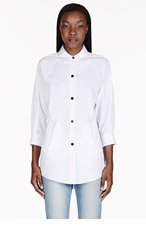 BAND OF OUTSIDERS White Cropped Sleeve Blouse for women