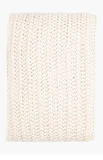 RICK OWENS Ivory Open-Knit Scarf for women