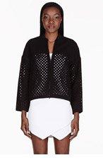 3.1 PHILLIP LIM Black Laser-Cut Polka Dot Jacket for women