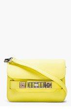PROENZA SCHOULER Lemon Yellow PS11 Mini Classic Leather Shoulder Bag for women