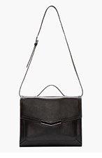 TIME'S ARROW SSENSE EXCLUSIVE Black Epic Portfolio Shoulder Bag for women