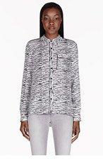 PROENZA SCHOULER Black & White Shibori Print Blouse for women