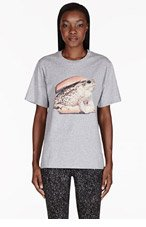 MSGM Grey Frog Burger Toilet Paper Edition T-shirt for women