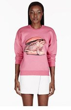 MSGM Pink Frog Burger Toilet Paper Edition Sweater for women
