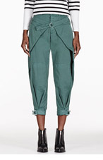 BAND OF OUTSIDERS Green Winged Military Trousers for women