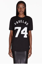 GIVENCHY Black Favelas Varsity T-Shirt for women