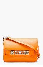 PROENZA SCHOULER Pumpkin Orange PS11 Mini Classic Leather Shoulder Bag for women