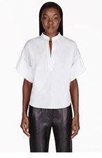 3.1 PHILLIP LIM White Oversized Rolled Cuff Blouse for women