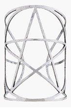 PAMELA LOVE Silver Tarnished Pentagram Cuff for women