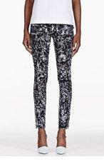 PROENZA SCHOULER Black Marble PS-J5 Ultra Skinny Jeans for women