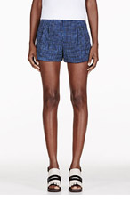 MARC JACOBS Blue Wool Cuffed Shorts for women