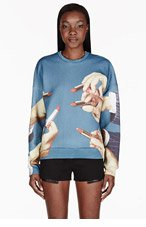 MSGM Teal Lipstick Toilet Paper Edition Sweater for women