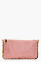 STELLA MCCARTNEY Rose & gold Shaggy deer Baby chain Clutch for women