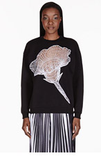 CHRISTOPHER KANE Black Flower Cut-Out Sweater for women