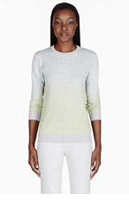 PROENZA SCHOULER Grey Marble Dip-Dye Print Sweater for women