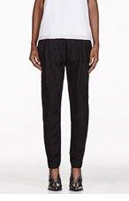 3.1 PHILLIP LIM Black Silk Draped Pocket Harem Trouser for women