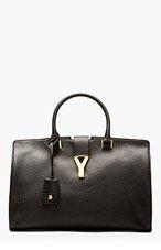 SAINT LAURENT Black Leather Ligne Y Cabas Tote for women