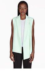 3.1 PHILLIP LIM Mint Green Draped Asymmetrical Vest for women