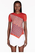 PETER PILOTTO Red Textured Knit T-shirt for women
