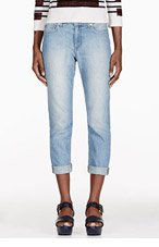 BAND OF OUTSIDERS Blue Faded Boyfriend Jeans for women
