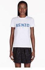 KENZO White Logo Graphic T-Shirt for women