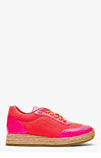STELLA MCCARTNEY Hot Pink Mesh Espadrille Sneakers for women