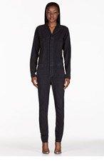 6397 Black Faded Denim Jumpsuit for women