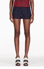BAND OF OUTSIDERS Navy Rolled Cuff Shorts for women