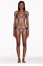 STELLA MCCARTNEY Brown Python Print String Bikini for women