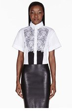 PETER PILOTTO White Embroidered Lace Blouse for women